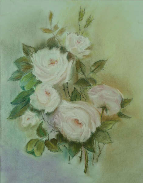 still-life. pale-pink roses