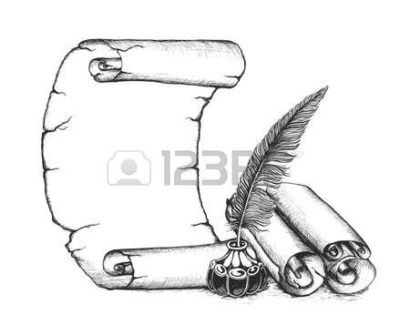 27462271-작가-기호를-설정-_-퀼-펜,-스크롤,-잉크-병.jpg